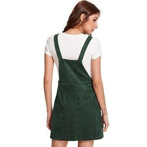 f4d6db6cfd Dresses - NWOT Green corduroy overall dress with pocket